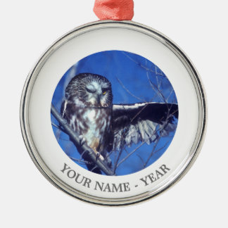 Winking owl christmas ornament