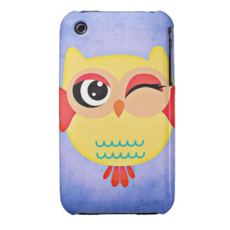 Winking Owl iPhone 3 Case-Mate Case