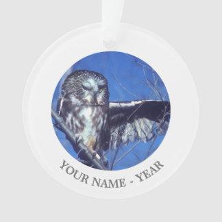 Winking owl ornament