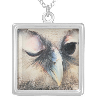 Winking Owl Silver Plated Necklace