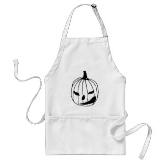 Winking Pumpkin Aprons