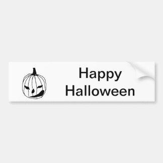 Winking Pumpkin Bumper Sticker