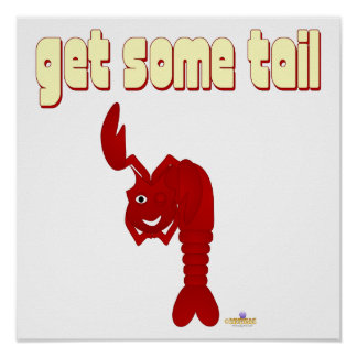 Winking Red Lobster Get Some Tail Poster