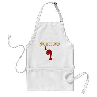 Winking Red Lobster Give Me A Snap Apron