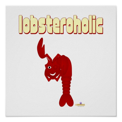 Winking Red Lobster Lobsteroholic Posters