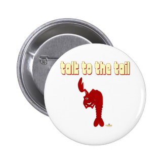 Winking Red Lobster Talk To The Tail 6 Cm Round Badge