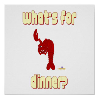 Winking Red Lobster What's For Dinner Posters