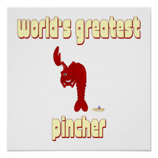 Winking Red Lobster World's Greatest Pincher Posters