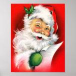 Winking Santa Print