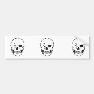 winking skull bumper stickers