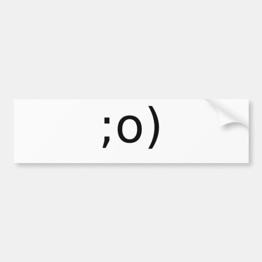 winking smiley bumper stickers