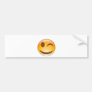 Winking smiley bumper sticker