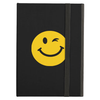 Winking smiley face iPad air cases