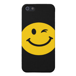 Winking smiley face iPhone 5/5S cases