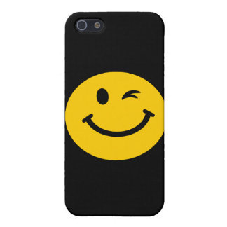 Winking smiley face iPhone 5 cover