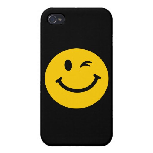 Winking smiley face cases for iPhone 4