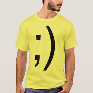 Winking Smiley Face Text T-Shirt