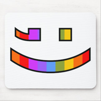 Winking Smiling Face Mouse Mat