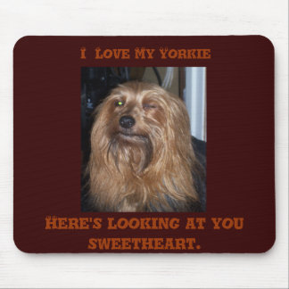 Winking Yorkie Mouse Pad