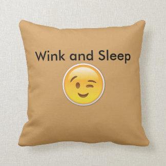 Winky Emoji Pillow