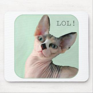 "Winky says, ""LOL!"" Mousepad"
