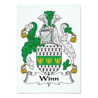 Winn Family Crest 13 Cm X 18 Cm Invitation Card