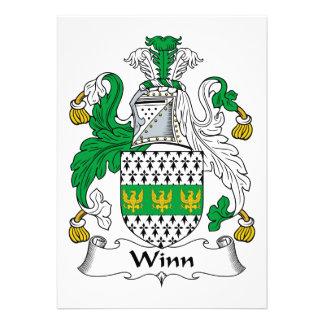 Winn Family Crest Custom Announcement
