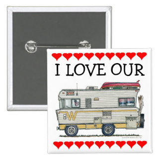 Winnebago Camper RV Apparel 15 Cm Square Badge