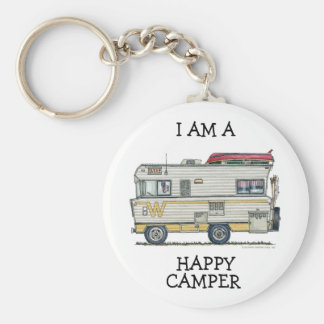 Winnebago Camper RV Apparel Basic Round Button Key Ring