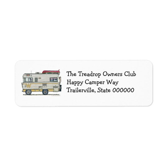 Winnebago Camper RV Apparel Return Address Label