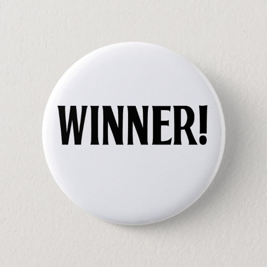 Winner! 6 Cm Round Badge