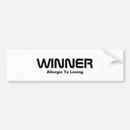 WINNER, Allergic To Losing Bumper Stickers