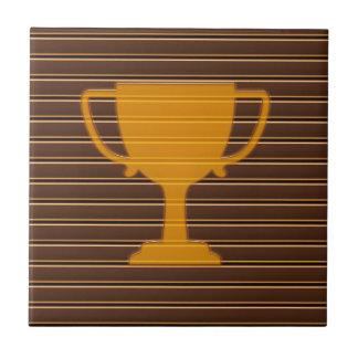 WINNER Gold Foil Stripe Trophy Cup Award NVN698 Tile
