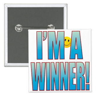 Winner Life B 15 Cm Square Badge