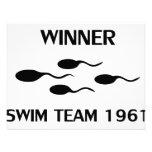 winner swim team 1961 icon personalized invite