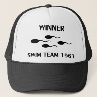winner swim team 1961 icon trucker hat