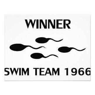 winner swim team 1966 icon personalized invitation