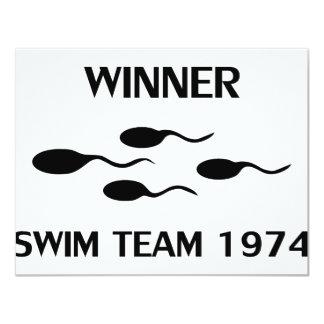 winner swim team 1974 icon card