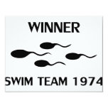 winner swim team 1974 icon personalized announcement