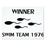 winner swim team 1976 icon 11 cm x 14 cm invitation card