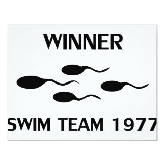winner swim team 1977 icon card