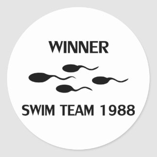 winner swim team 1988 icon stickers