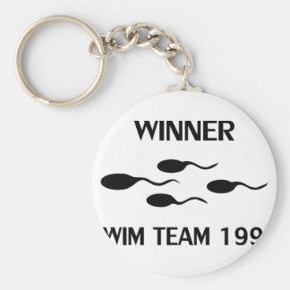 winner swim team 1992 icon keychains