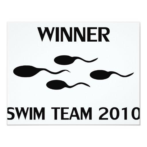 winner swim team 2010 icon 11 cm x 14 cm invitation card