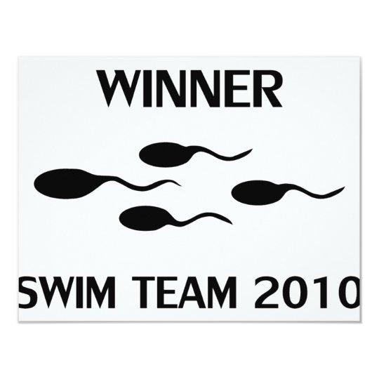 winner swim team 2010 icon card