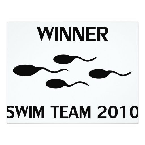 winner swim team 2010 icon 4.25x5.5 paper invitation card