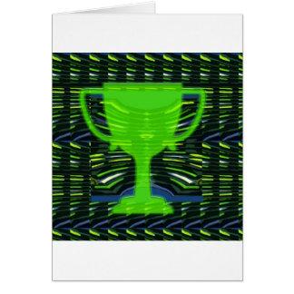 Winner Trophy Green Environmentalist Greeting Card