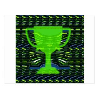 Winner Trophy Green Environmentalist Postcard