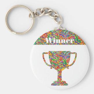 Winner Waves Winning Image Keychain