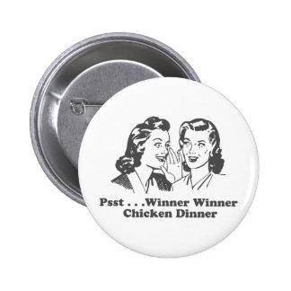 Winner Winner Chicken Dinner Funny 6 Cm Round Badge